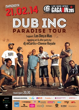 Dub Inc Athens poster